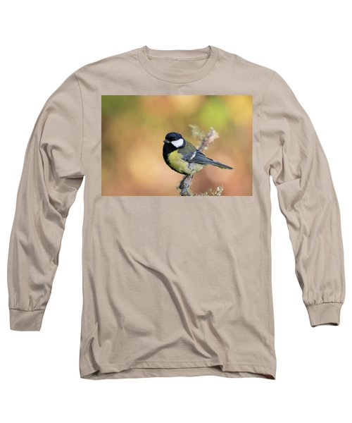 Long Sleeve T-Shirt featuring the photograph Great Tit - Parus Major by Karen Van Der Zijden