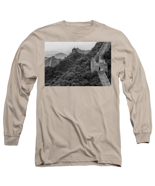 Long Sleeve T-Shirt featuring the photograph Great Wall 3, Jinshanling, 2016 by Hitendra SINKAR