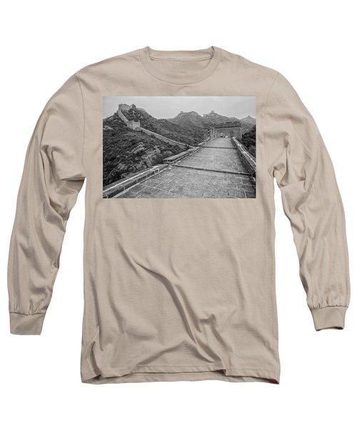 Long Sleeve T-Shirt featuring the photograph Great Wall 5, Jinshanling, 2016 by Hitendra SINKAR