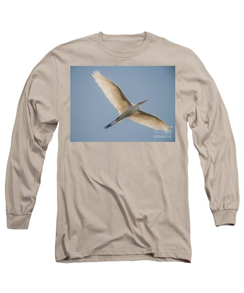Long Sleeve T-Shirt featuring the photograph Great White Egret by David Bearden