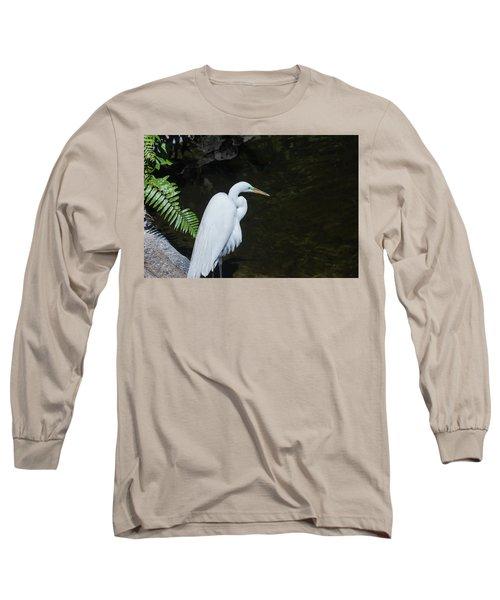 Great White Egret Long Sleeve T-Shirt