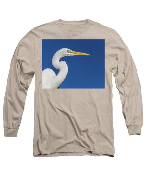 Great White Heron Long Sleeve T-Shirt
