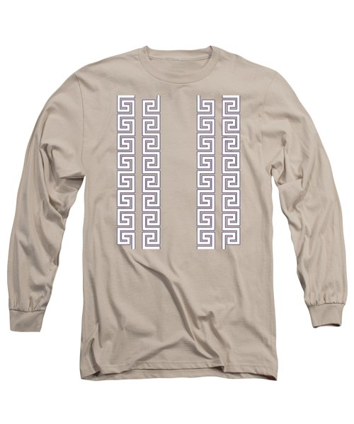 Greek Pattern - Chuck Staley Long Sleeve T-Shirt