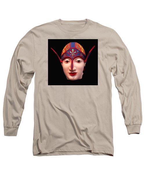 Long Sleeve T-Shirt featuring the photograph Greek Warrior Head by Nigel Fletcher-Jones