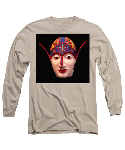 Greek Warrior Head Long Sleeve T-Shirt