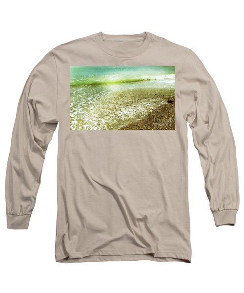 Green And Yellow Waves At Montana De Oro Beach In Spooners Cove Long Sleeve T-Shirt