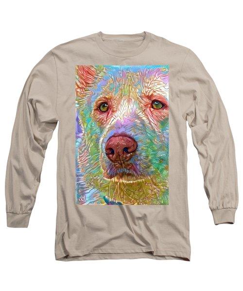 Long Sleeve T-Shirt featuring the digital art Green Eyes by Geri Glavis