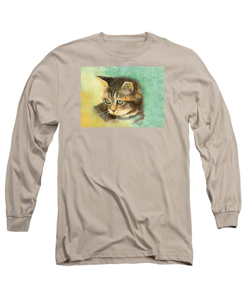 Long Sleeve T-Shirt featuring the painting Green Eyes by Terry Webb Harshman