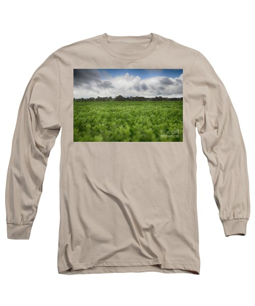 Green Fields 4 Long Sleeve T-Shirt by Douglas Barnard