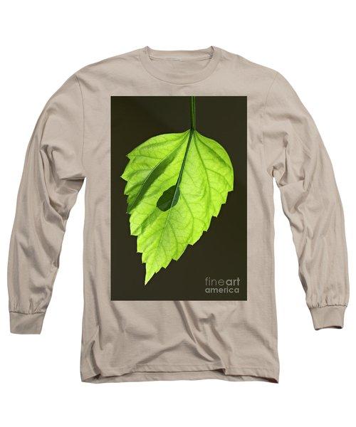 Green Leaf Long Sleeve T-Shirt by Tony Cordoza