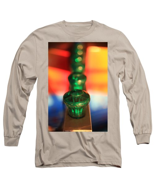 Long Sleeve T-Shirt featuring the photograph Green Lights by Lora Lee Chapman
