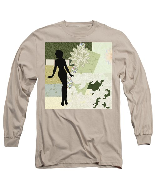 Green Paper Doll Long Sleeve T-Shirt