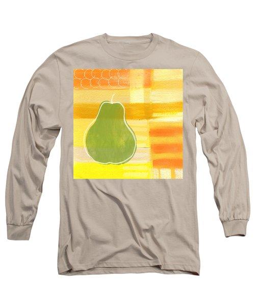 Green Pear- Art By Linda Woods Long Sleeve T-Shirt