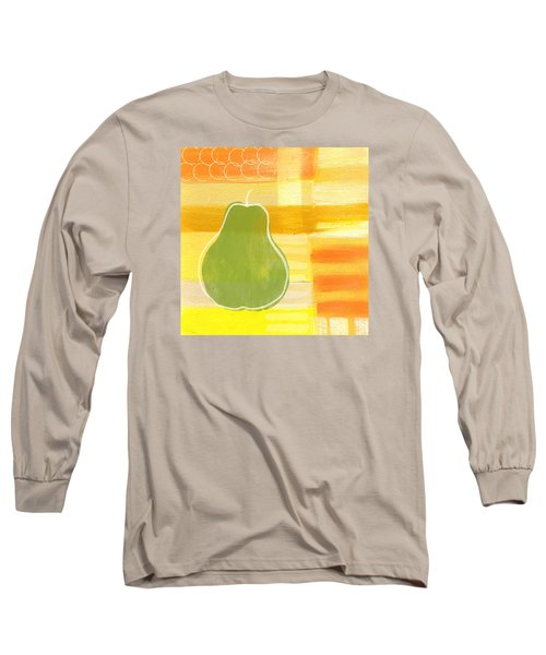 Green Pear- Art By Linda Woods Long Sleeve T-Shirt