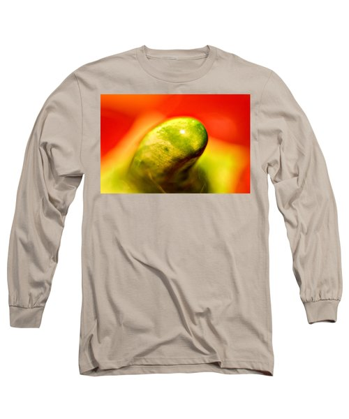 Green Red Liquid Clay Long Sleeve T-Shirt