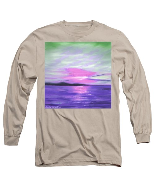 Green Skies And Purple Seas Sunset Long Sleeve T-Shirt