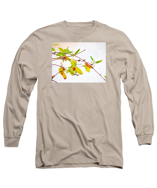 Green Twigs And Leaves Long Sleeve T-Shirt by Craig Walters