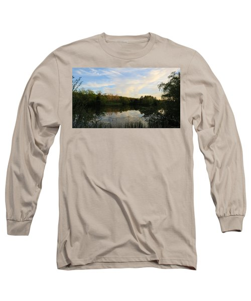 Long Sleeve T-Shirt featuring the photograph Greenfield Pond by Kimberly Mackowski