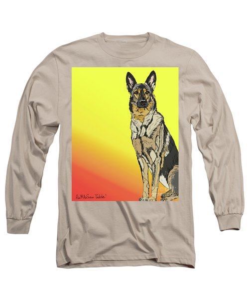 Gretchen In Digital Long Sleeve T-Shirt by Ania M Milo