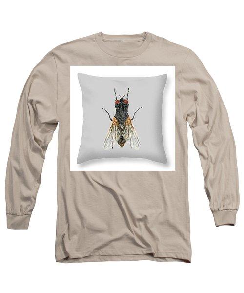 Grey Fly Pillow Long Sleeve T-Shirt by R  Allen Swezey