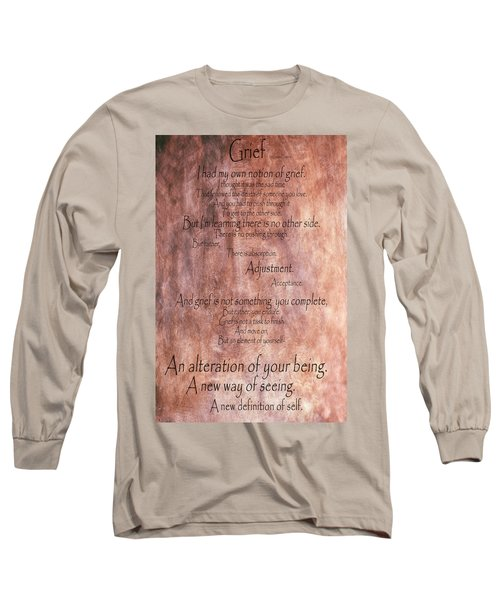 Long Sleeve T-Shirt featuring the mixed media Grief 1 by Angelina Vick