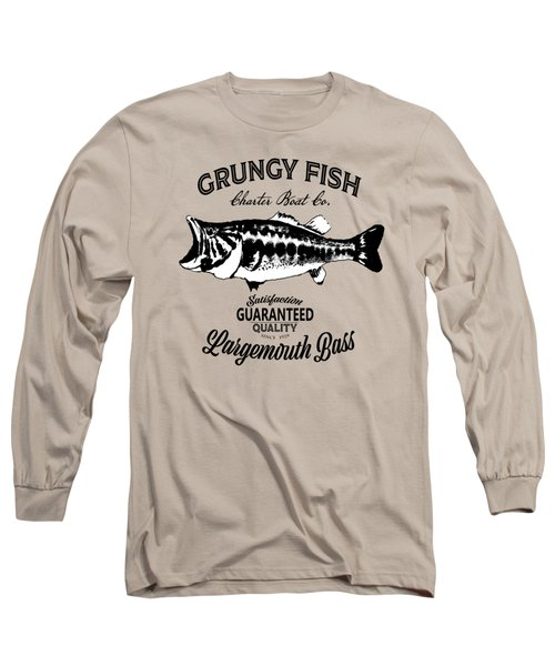 Grungy Fish Long Sleeve T-Shirt