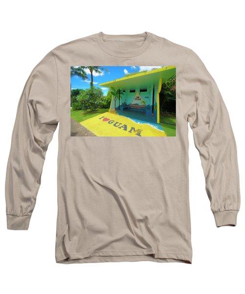 Guam Bus Stop Long Sleeve T-Shirt