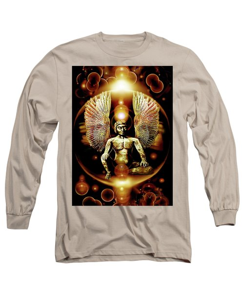Guardian  Archangel Long Sleeve T-Shirt by Hartmut Jager
