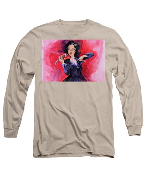Playing On Voilin Long Sleeve T-Shirt