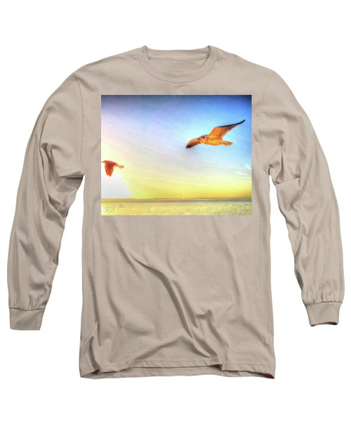 Gull In Sky Long Sleeve T-Shirt