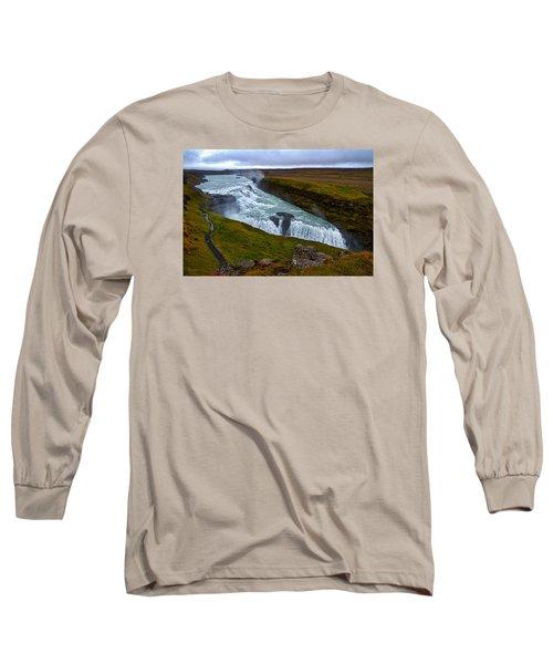 Gullfoss Waterfall #2 - Iceland Long Sleeve T-Shirt