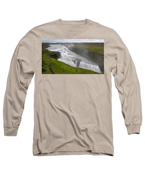 Long Sleeve T-Shirt featuring the photograph Gullfoss Waterfall No. 2 by Joe Bonita
