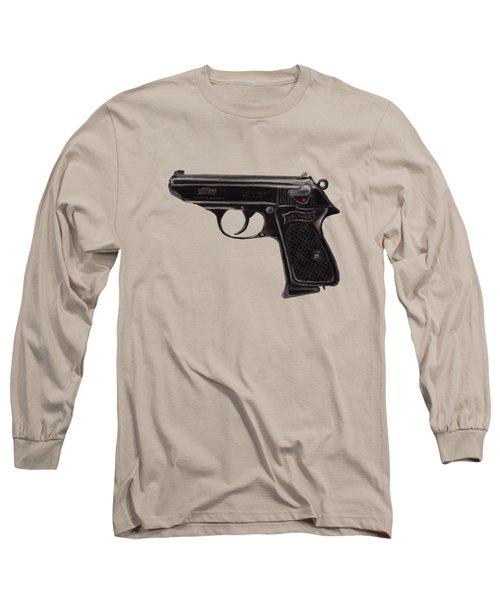 Gun - Pistol - Walther Ppk Long Sleeve T-Shirt