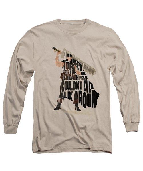 Guts Typography Art Long Sleeve T-Shirt
