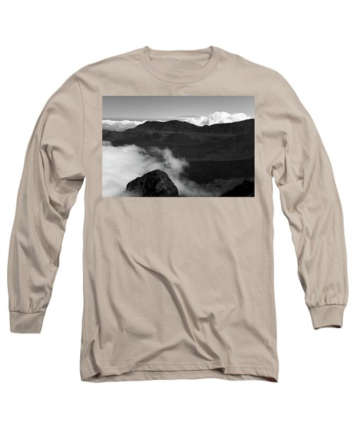 Haleakala B/w Long Sleeve T-Shirt