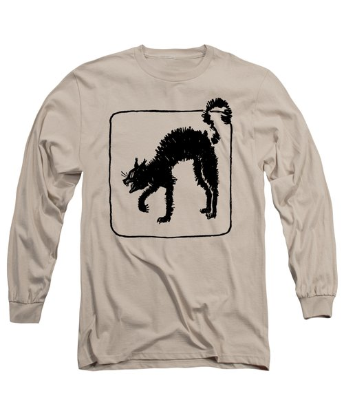 Long Sleeve T-Shirt featuring the digital art Halloween Cat by rd Erickson