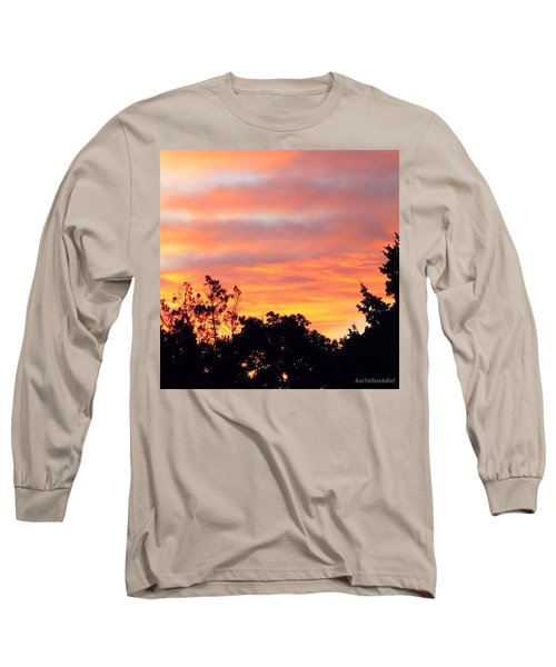 #halloween #morning #sky Is On #fire Long Sleeve T-Shirt