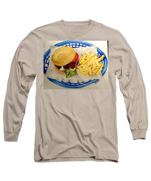 Long Sleeve T-Shirt featuring the painting Hamburger Basket #2 by Carol Grimes