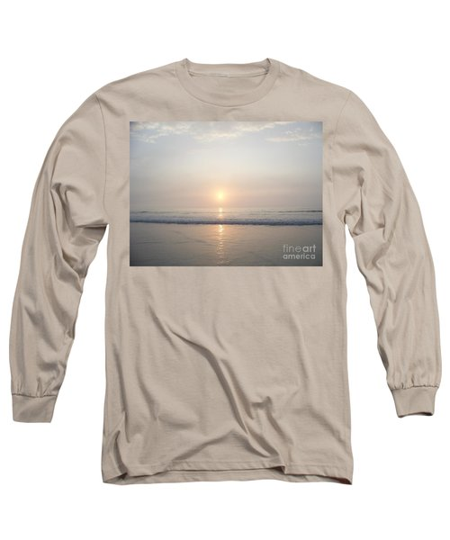 Hampton Beach Sunrise Long Sleeve T-Shirt by Eunice Miller
