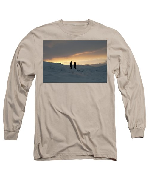 Long Sleeve T-Shirt featuring the photograph Hanging Around Iceland by Dubi Roman