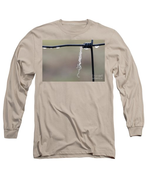 Long Sleeve T-Shirt featuring the photograph Hanging By A Thread by Linda Lees