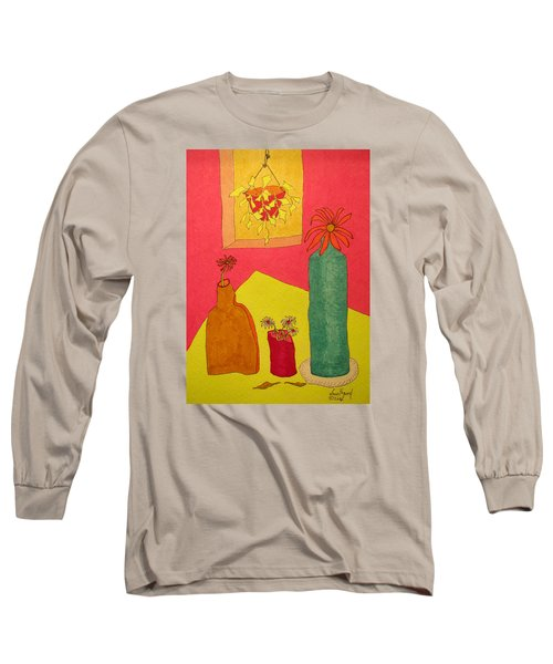 Hanging Plant And 3 On Table Long Sleeve T-Shirt