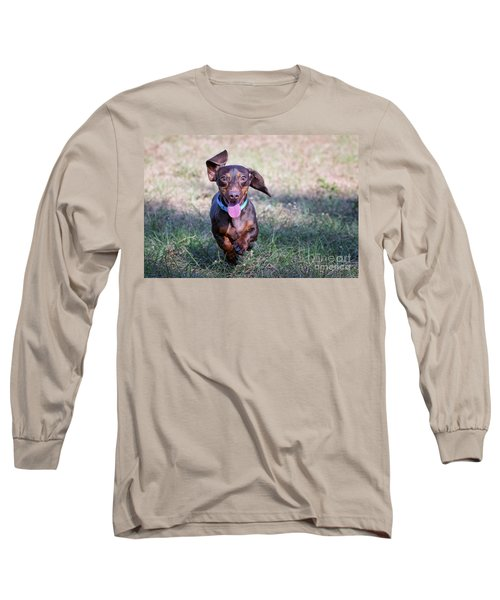 Happy Dachshund Long Sleeve T-Shirt