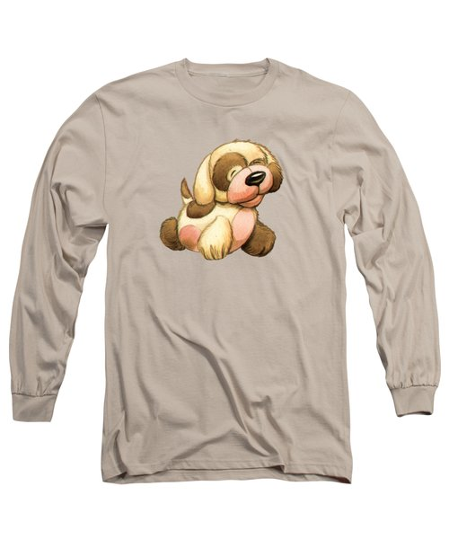 Happy Dog Long Sleeve T-Shirt by Andy Catling