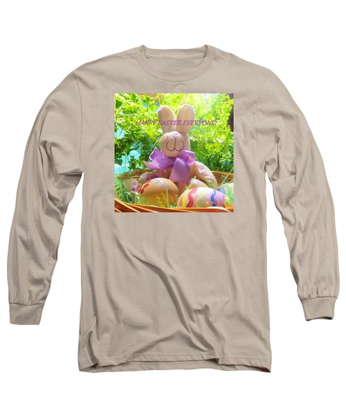 Happy Easter Everyone Long Sleeve T-Shirt by Denise Fulmer
