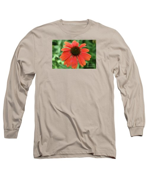 Happy Face Flower Long Sleeve T-Shirt