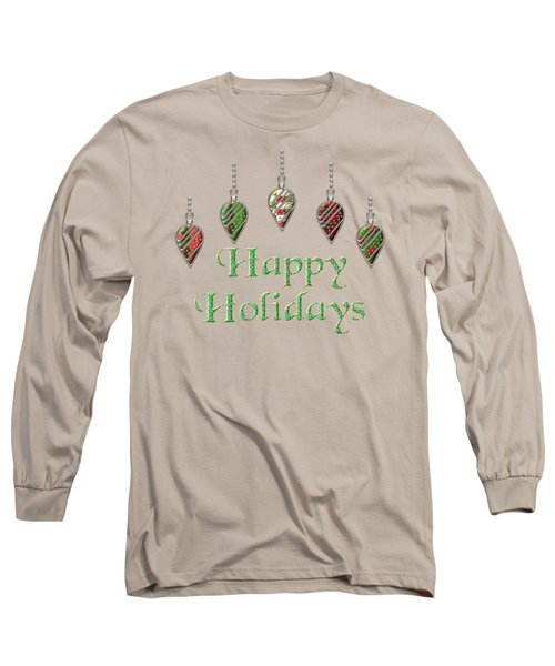 Happy Holidays Merry Christmas Long Sleeve T-Shirt by Movie Poster Prints