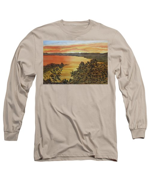 Long Sleeve T-Shirt featuring the painting Happy Hour by Joel Deutsch
