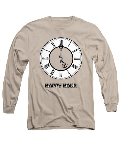 Happy Hour -  Pink Long Sleeve T-Shirt