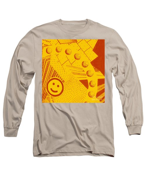 Long Sleeve T-Shirt featuring the painting Happy by Maria Langgle